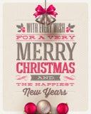 Tipo diseño de la Navidad Fotos de archivo libres de regalías