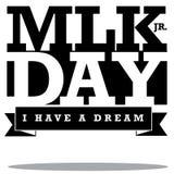 Tipo diseño de Martin Luther King Day Fotografía de archivo
