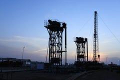 Tipo dispositivo di pompaggio della torre Fotografie Stock Libere da Diritti