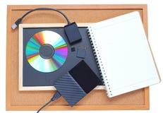 Tipo do armazenamento da memória digital e feito a mão imagens de stock