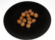 Tipo do longan do dimocarpus do fruto foto de stock