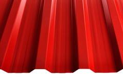 Tipo do perfil da chapa metálica, material moderno para o telhado das casas imagens de stock
