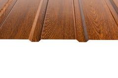Tipo do perfil da chapa metálica, material moderno para o telhado das casas imagem de stock royalty free