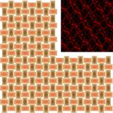 Tipo dois diferente das texturas, isolado no branco Imagem de Stock