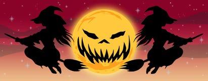 Tipo E de la BANDERA del logotipo de Halloween ilustración del vector