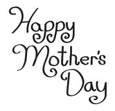 Tipo escrito à mão feliz do dia de mães Fotografia de Stock
