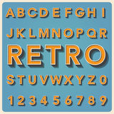 Tipo fonte retro, tipografia do vintage. Fotos de Stock Royalty Free