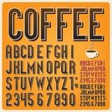 Tipo fuente retro, tipografía del vintage. Imágenes de archivo libres de regalías