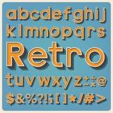 Tipo fuente retro, tipografía del vintage. Foto de archivo