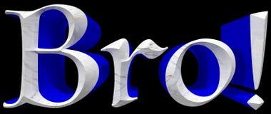 Tipo ilustração de Bro 3D com trajeto de grampeamento Foto de Stock