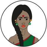 Tipo indiano di bellezza Immagine Stock