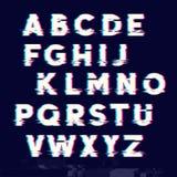Tipo letras de la dislocación de la interferencia Fotos de archivo