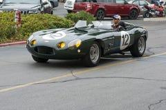 Tipo macchina da corsa di Jaguar E su esposizione fotografia stock