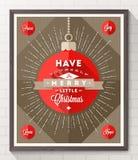 Tipo manifesto di Natale di progettazione Fotografie Stock Libere da Diritti