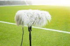 Tipo microfono del pavimento popolare in una posizione che ? vicina alla portata dello sport immagini stock libere da diritti