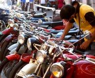 Tipo Moto Guzzi da reunião da motocicleta imagens de stock