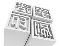 Tipo movible impresión en chino Fotos de archivo libres de regalías