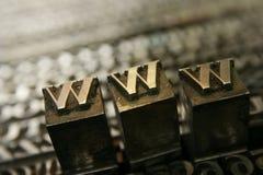 Tipo movible WWW Fotografía de archivo libre de regalías