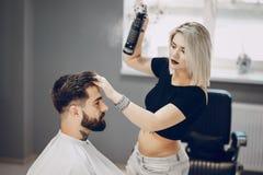Tipo nei barbercos fotografie stock libere da diritti