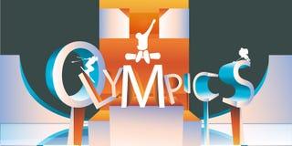 Tipo olímpico do logotipo Imagens de Stock Royalty Free