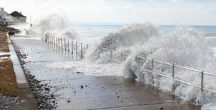 Ondas do tsunami da água do mar Fotografia de Stock