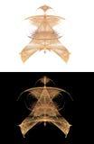 Tipo oriental originado en ordenador símbolo del fractal Fotos de archivo libres de regalías