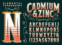Tipo originale progettazione dello zinco & del cadmio royalty illustrazione gratis