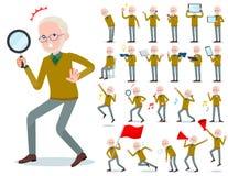 Tipo plano viejo hombre White_Action del punto amarillo libre illustration