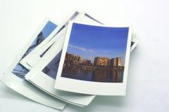 Tipo polaroid de las fotografías inmediatas foto de archivo libre de regalías