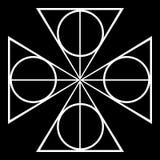 Tipo preto e branco fundo do forro no formulário do sumário e da repetição ilustração royalty free