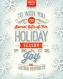 Tipo progettazione di Natale Fotografia Stock