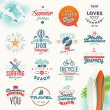 Tipo progettazione di vacanze estive e di viaggio Fotografia Stock Libera da Diritti