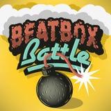 Tipo projeto da batalha de Beatbox do tratamento Inscrição para o título, ilustração stock