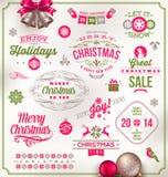 Tipo projeto do Natal ilustração do vetor