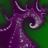 tipo projeto do nautilus da roupa com fundo verde Fotografia de Stock
