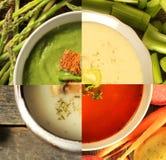 Tipo quatro diferente da sopa Fotos de Stock