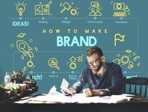 Tipo que marca a etiqueta Logo Marketing Concept de Copyright foto de stock royalty free