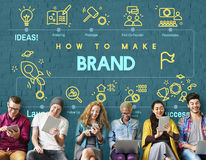 Tipo que marca a etiqueta Logo Marketing Concept de Copyright imagens de stock