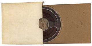 Tipo rodillo del autio de la vendimia en el papel aislado, Fotos de archivo libres de regalías