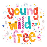 Tipo salvaje y libre joven diseño de las letras de la tipografía Imagen de archivo