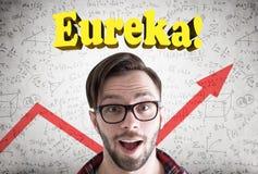 Tipo stupito dei pantaloni a vita bassa, Eureka, grafico Fotografie Stock