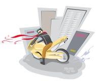 Tipo sul motociclo Fotografie Stock