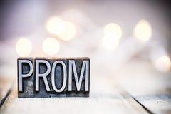 Tipo tema da tipografia do vintage do conceito do baile de finalistas foto de stock royalty free