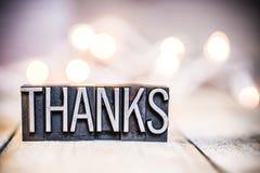 Tipo tema da tipografia do vintage do conceito dos agradecimentos imagens de stock royalty free