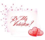 Tipo texto del día de tarjeta del día de San Valentín Imagenes de archivo