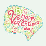 Tipo texto del día de tarjetas del día de San Valentín libre illustration