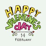 Tipo texto del día de tarjetas del día de San Valentín ilustración del vector