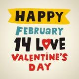Tipo texto del día de tarjetas del día de San Valentín stock de ilustración