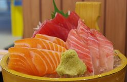 Tipo três de sashimi dos peixes Imagem de Stock Royalty Free
