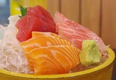 Tipo três de sashimi dos peixes Imagens de Stock